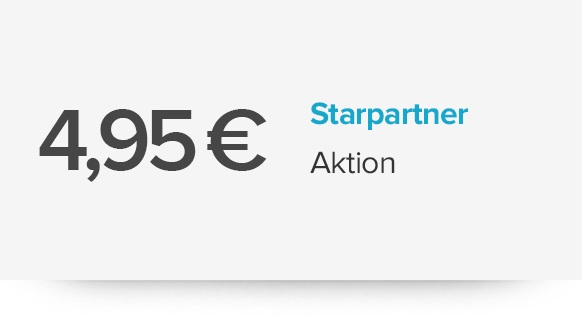 4,95 Euro StarPartner-Aktion
