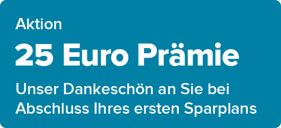 Sparplan plus 50 Euro Prämie